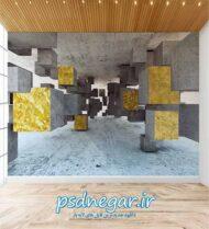 طرح کاغذ دیواری سه بعدی شماره ۱۶۲