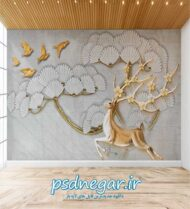 طرح کاغذ دیواری سه بعدی شماره ۱۶۳