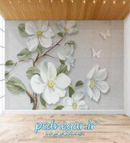 طرح کاغذ دیواری سه بعدی شماره ۱۶۴